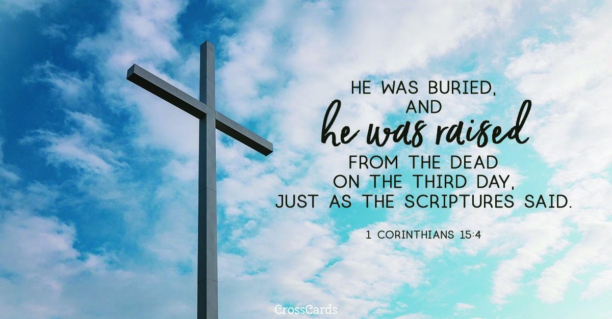 1 Corinthians 15:4 ecard, online card