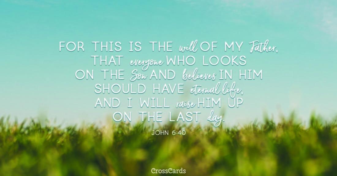 John 6:40 ecard, online card