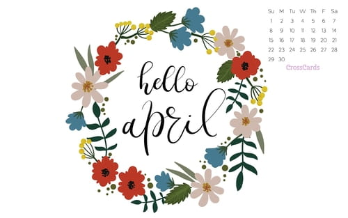 April 2018 - Hello April mobile phone wallpaper