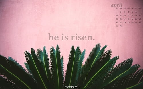 April 2018 - He is Risen mobile phone wallpaper