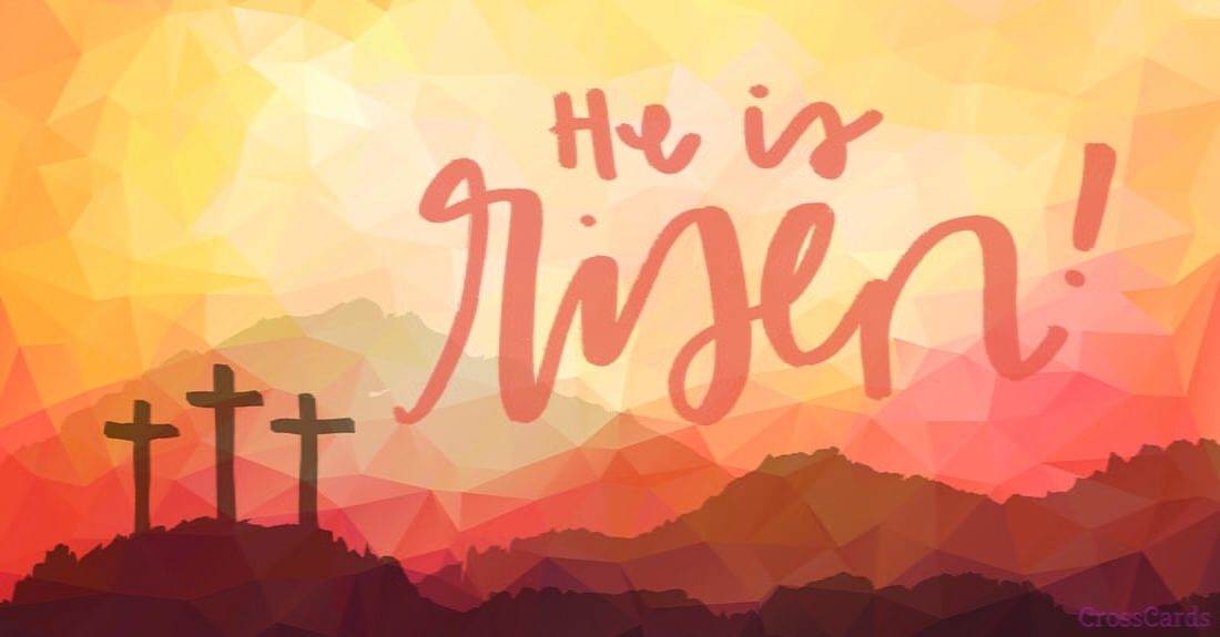 He is risen ecard free easter cards online - Christian easter images free ...