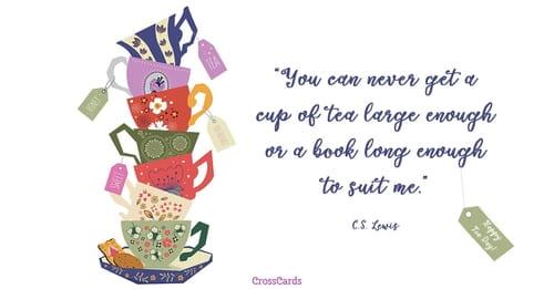 Happy Tea Day! (4/21) ecard, online card