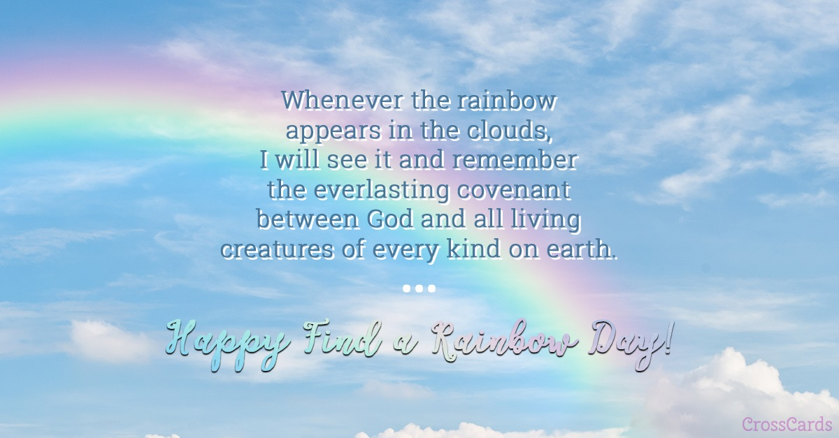 Find a Rainbow Day! (4/3) ecard, online card