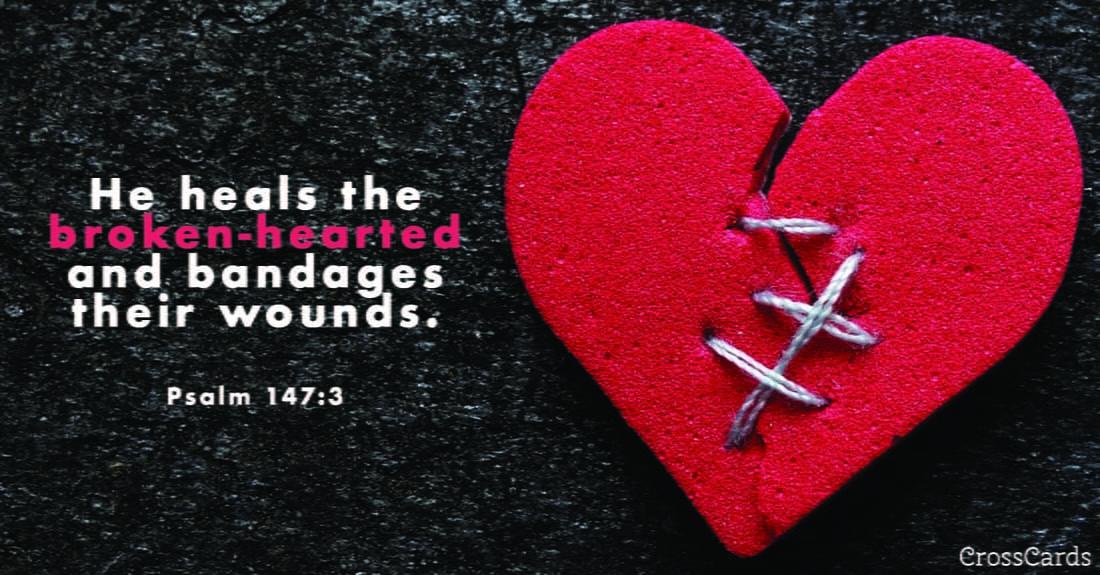 Psalm 147:3 ecard, online card