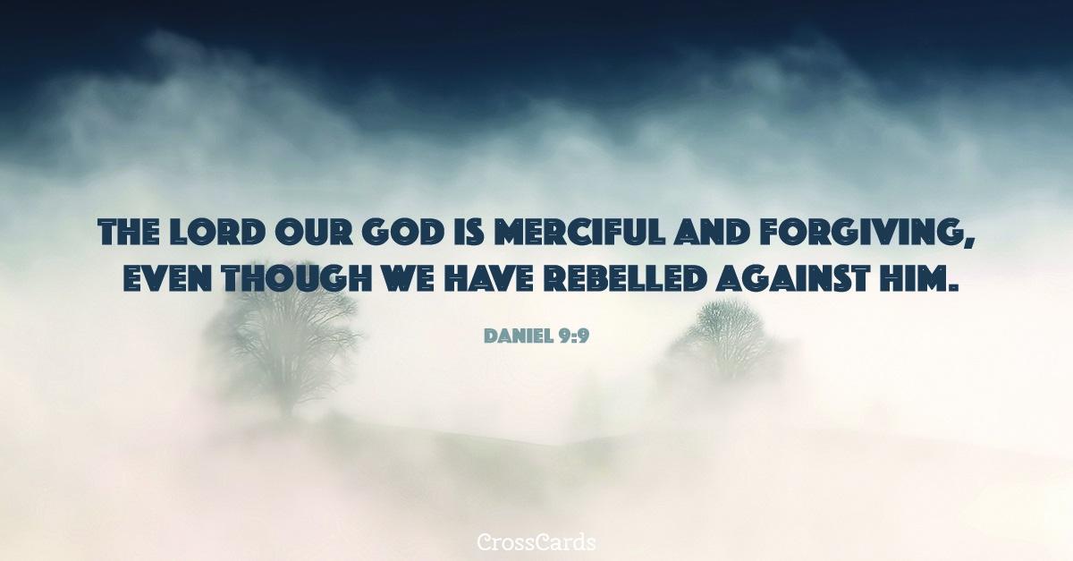 Daniel 9:9 ecard, online card