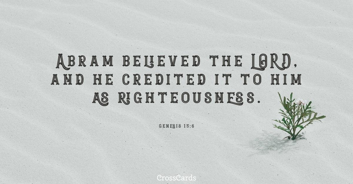 Genesis 15:6 ecard, online card