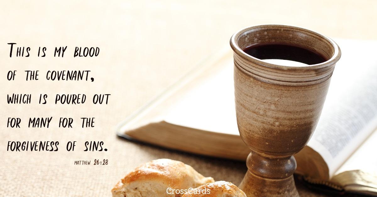 Matthew 26:28 ecard, online card