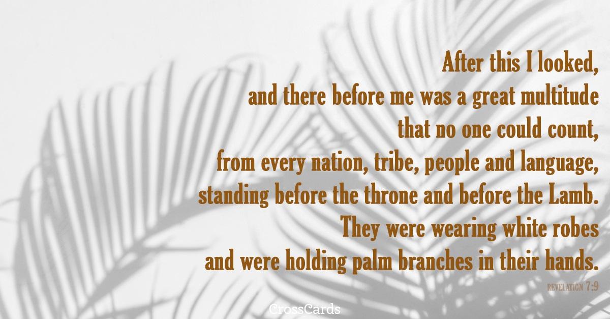 Revelation 7:9 ecard, online card