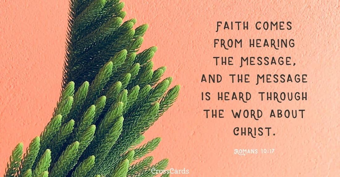 Romans 10:17 ecard, online card