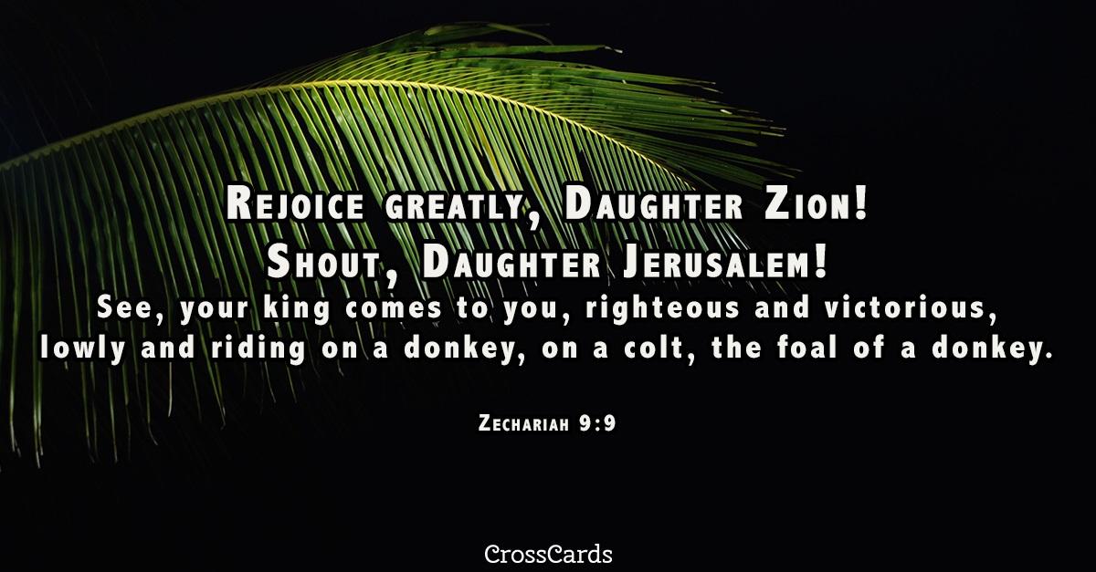Zechariah 9:9 ecard, online card