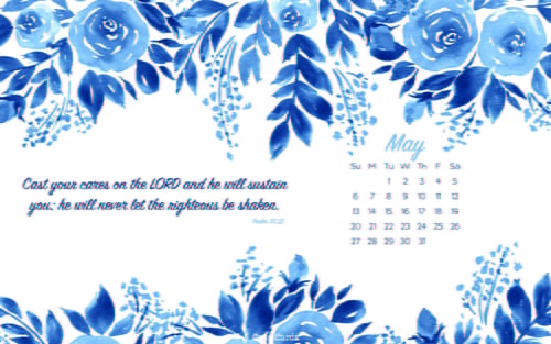May 2018 - Psalm 55:22 ecard, online card