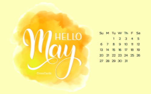 May 2018 - Hello May ecard, online card