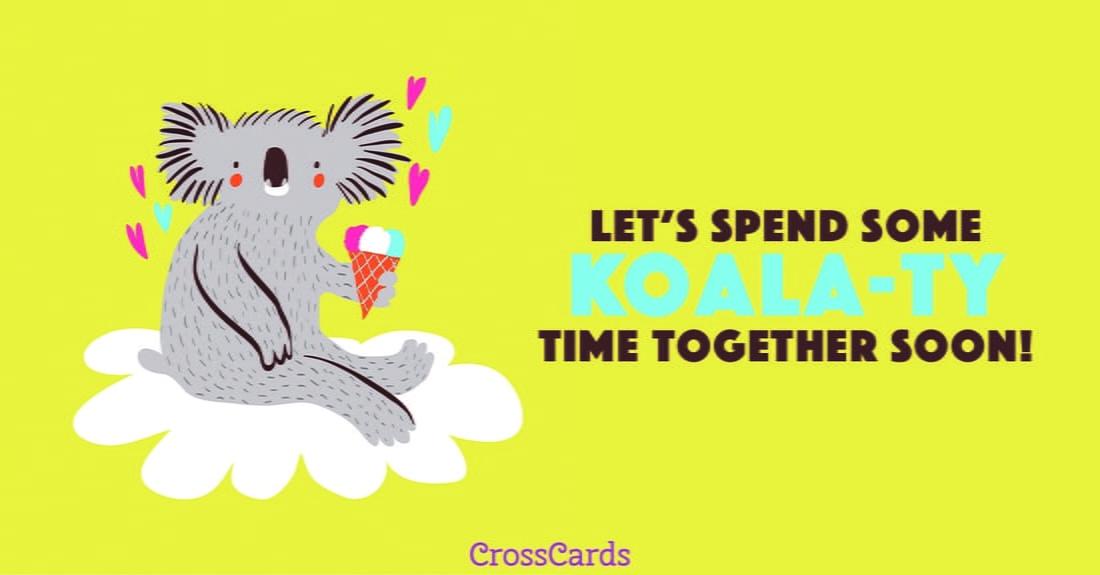 Koala-ty Time ecard, online card