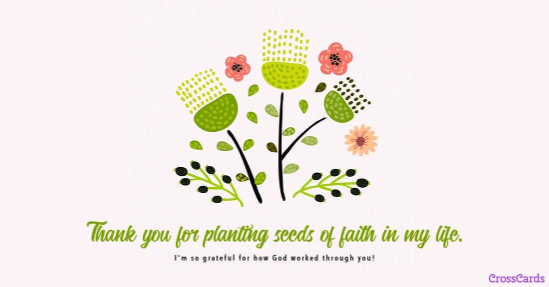 Seeds of Faith ecard, online card