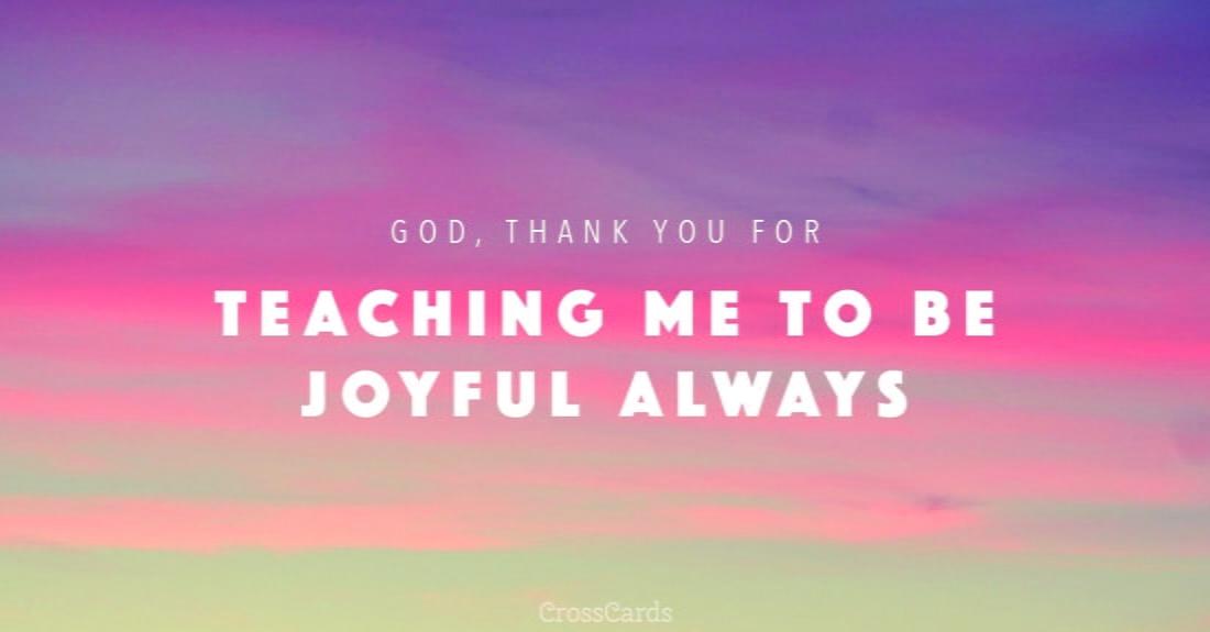 Joyful Always ecard, online card