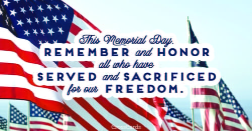 This Memorial Day ecard, online card