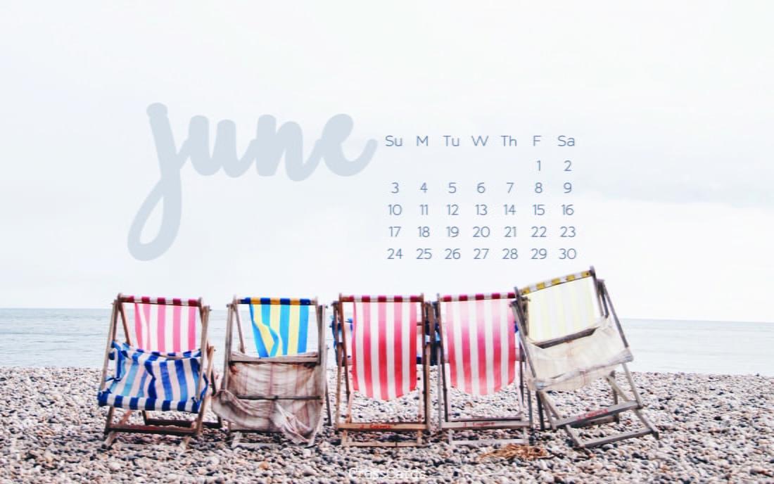 June 2018 - Beach Chairs mobile phone wallpaper