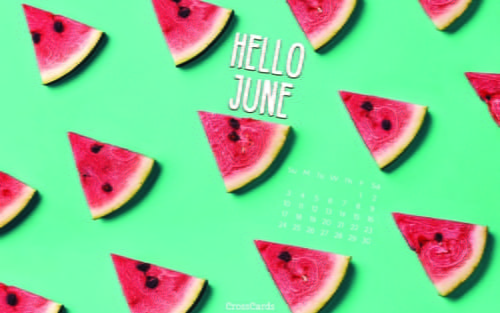 June 2018 - Watermelon ecard, online card