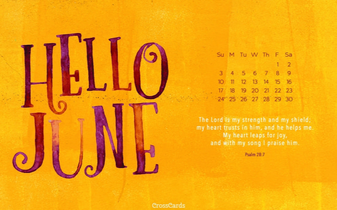 June 2018 - Hello June mobile phone wallpaper