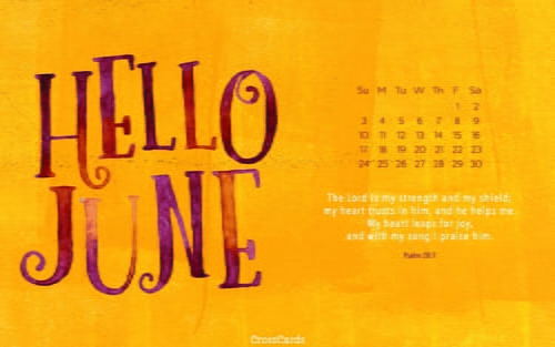 June 2018 - Hello June ecard, online card