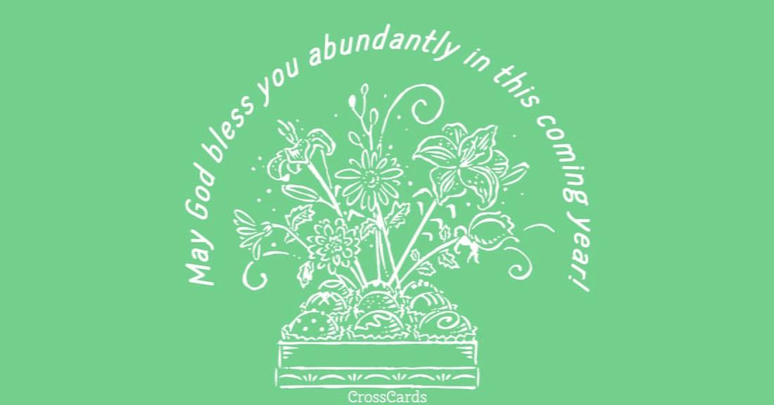 Abundant Blessings ecard, online card