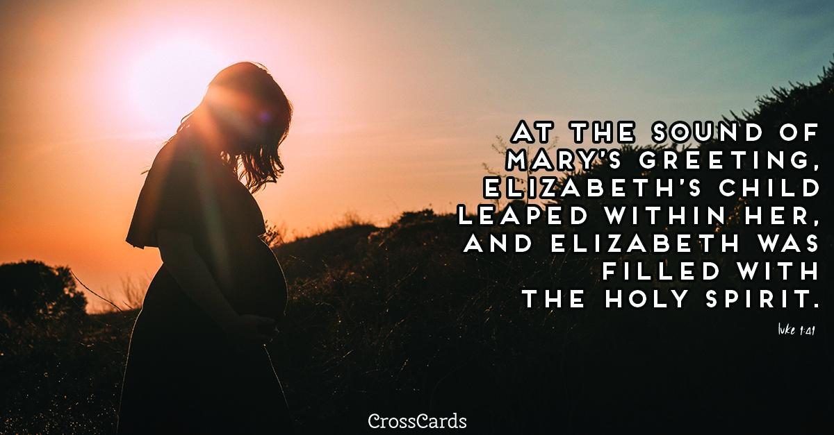 Luke 1:41 ecard, online card