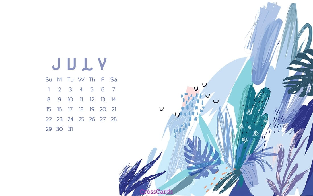 July 2018 - Blues ecard, online card