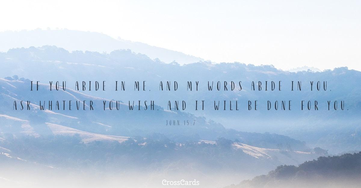 John 15:7 ecard, online card