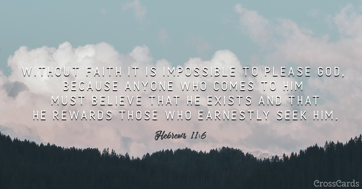 Hebrews 11:6 ecard, online card