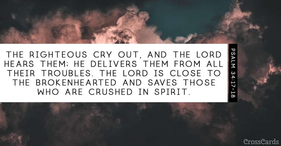 Psalm 34:17-18 ecard, online card
