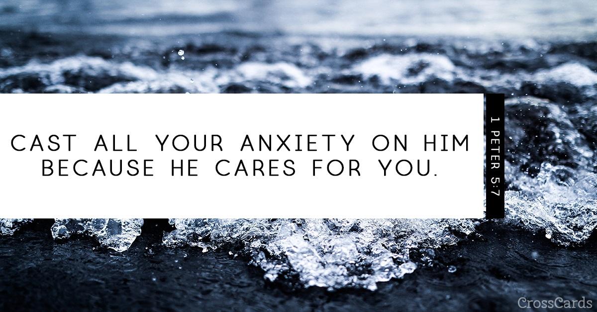 1 Peter 5:7 ecard, online card