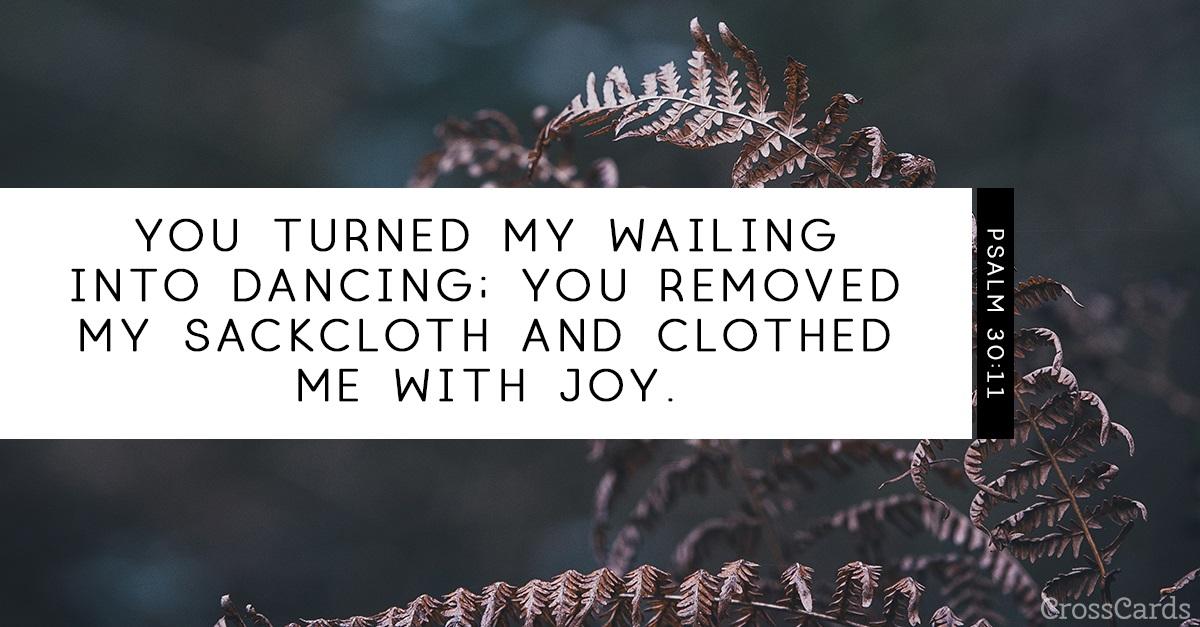 Psalm 30:11 ecard, online card
