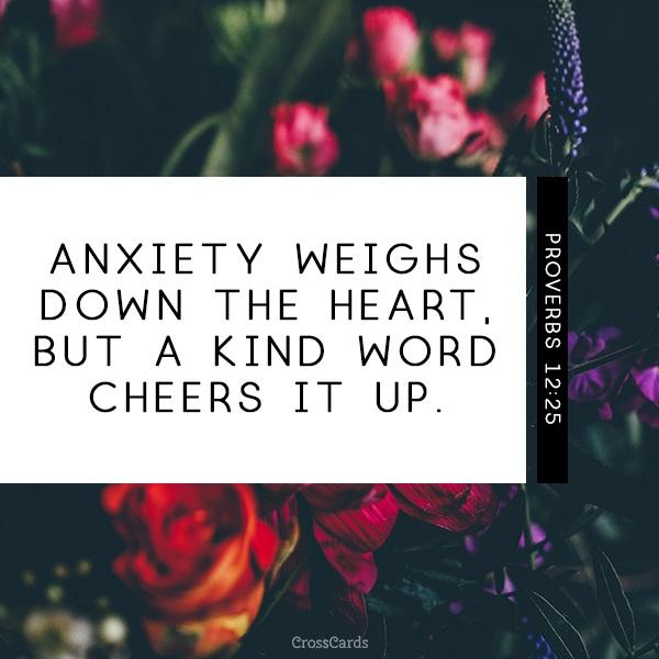 Proverbs 12:25 ecard, online card