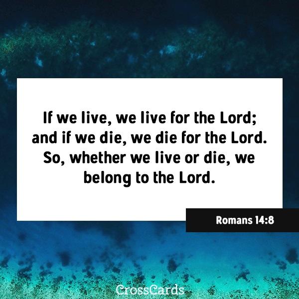 Romans 14:8 ecard, online card