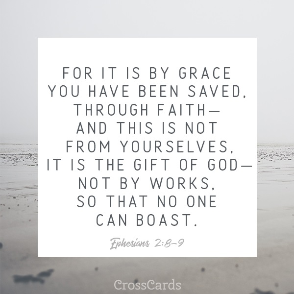 Ephesians 2:8-9 ecard, online card