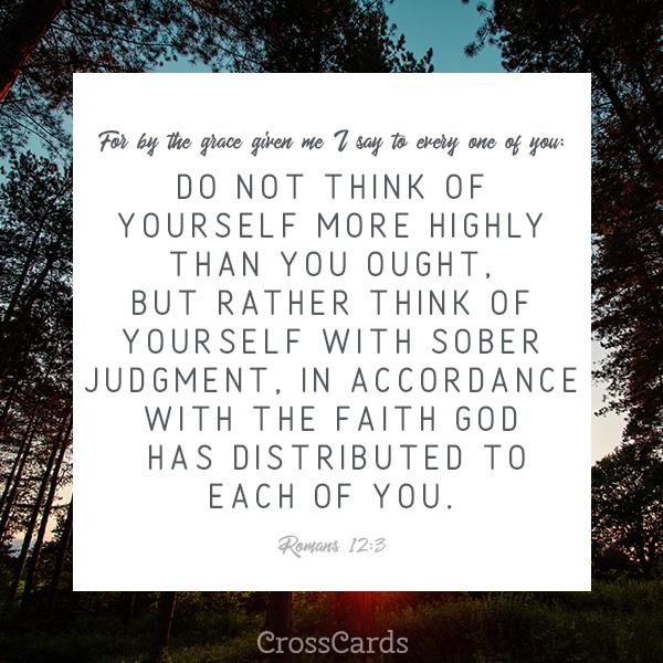 Romans 12:3 ecard, online card