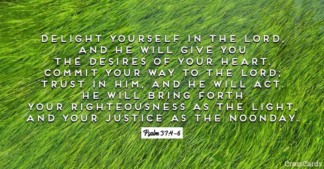 Psalm 37:4-6 ecard, online card