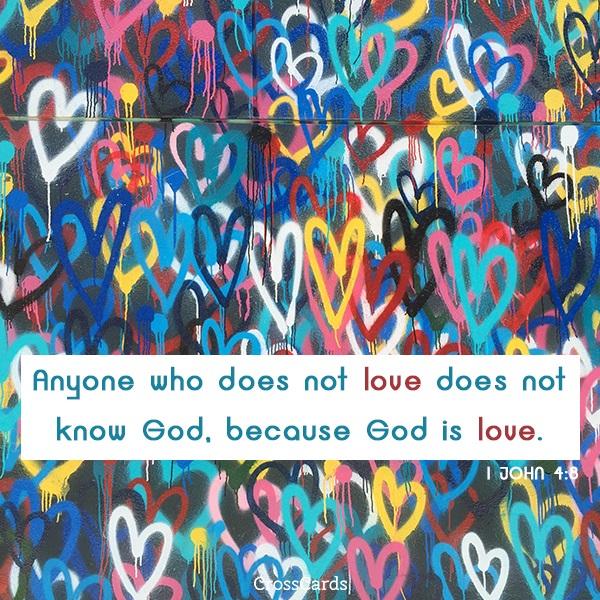 1 John 4:8 ecard, online card