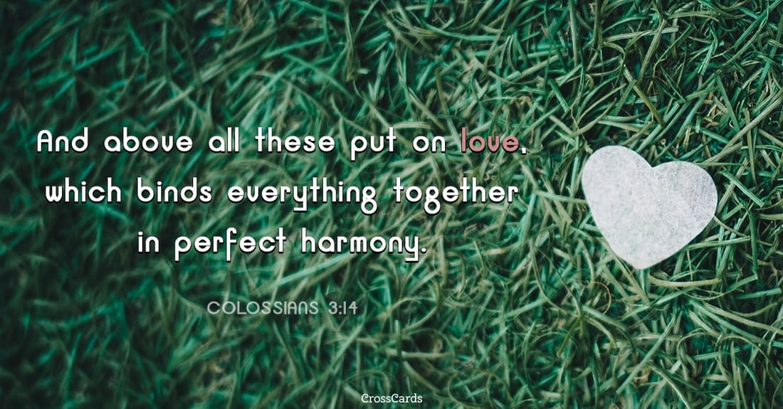 Colossians 3:14 ecard, online card