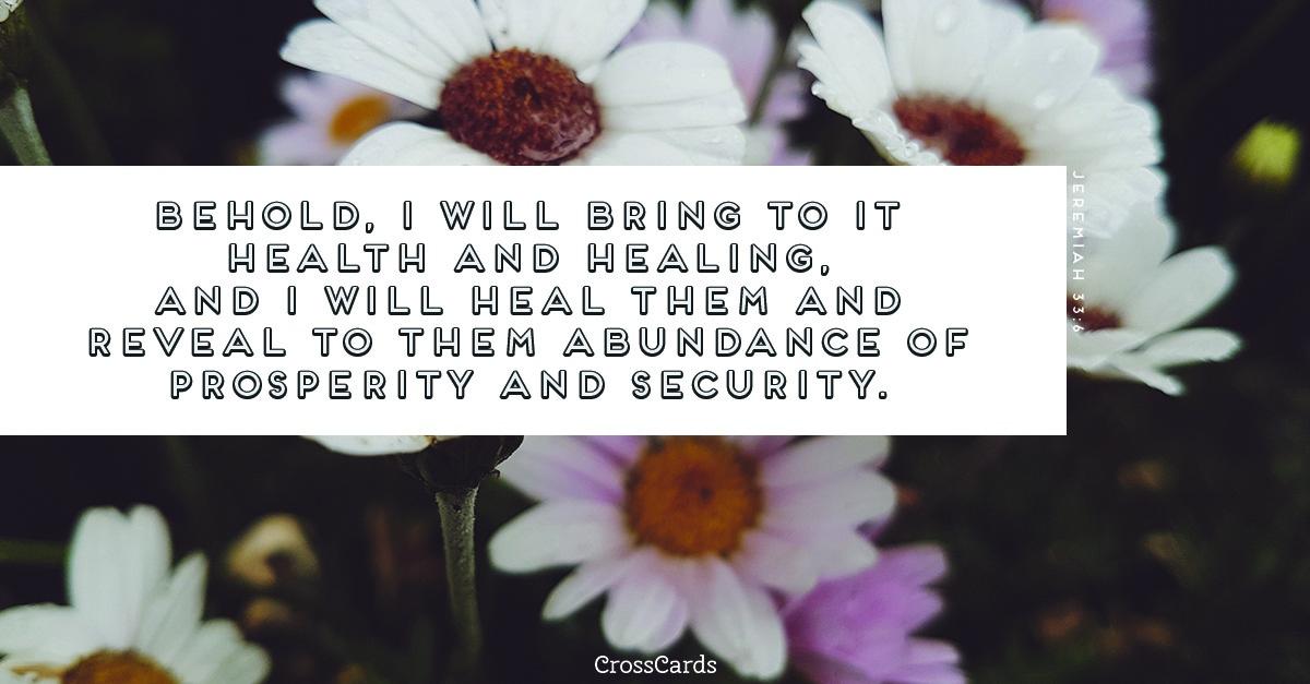 Jeremiah 33:6 ecard, online card