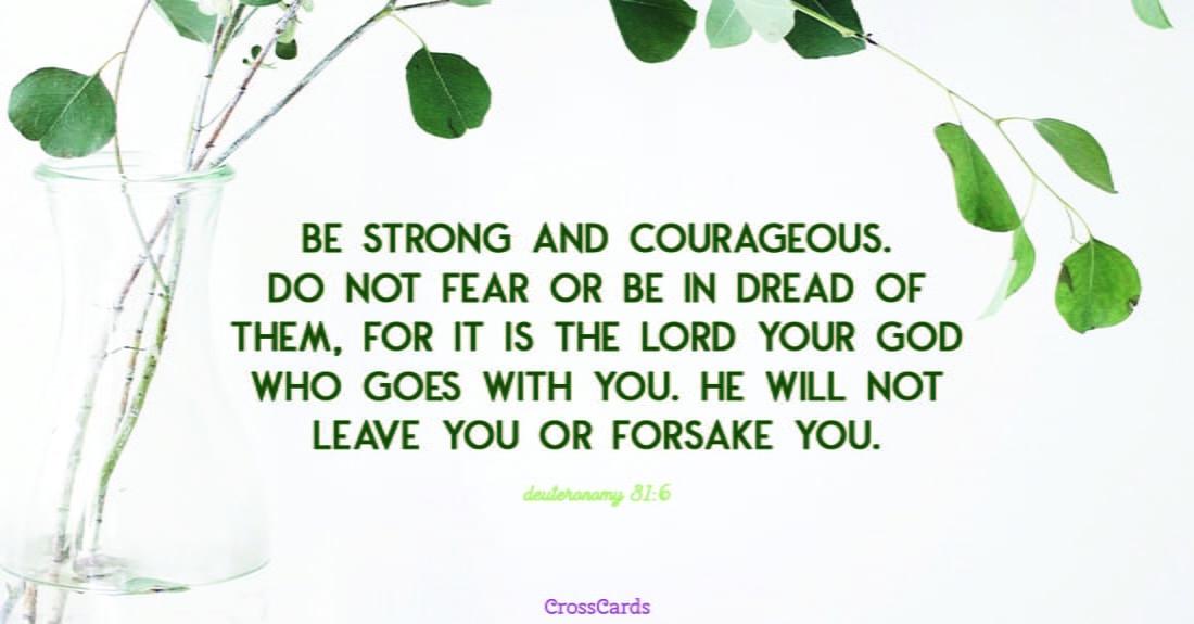 Deuteronomy 31:6 ecard, online card