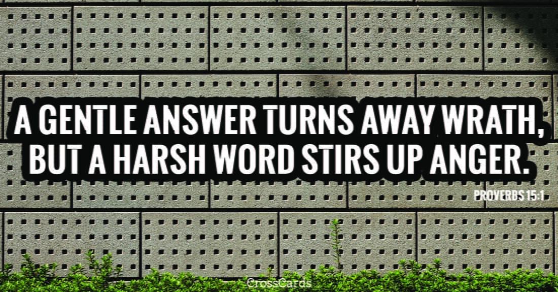 Proverbs 15:1 ecard, online card