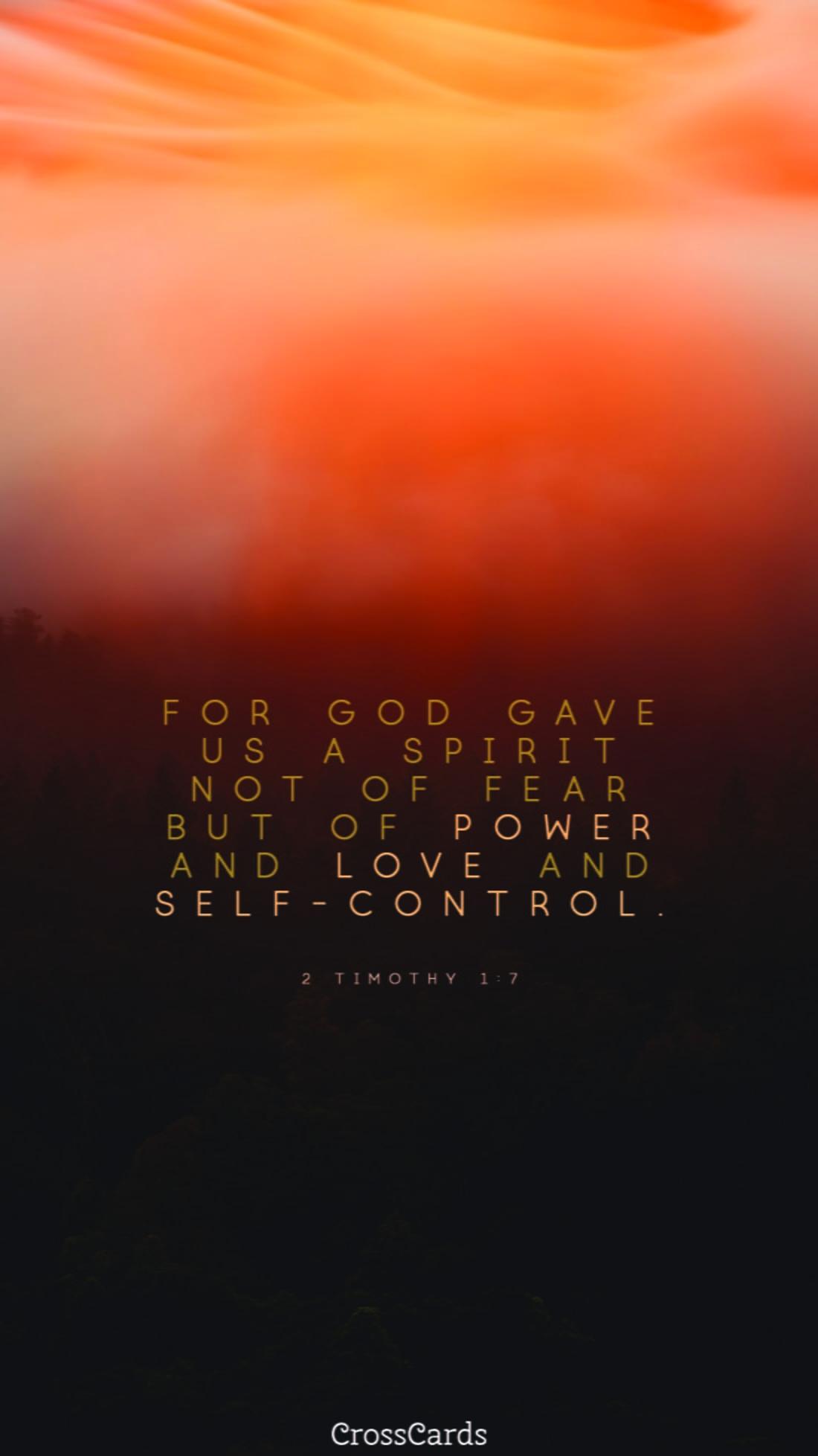 2 Timothy 1:7 ecard, online card