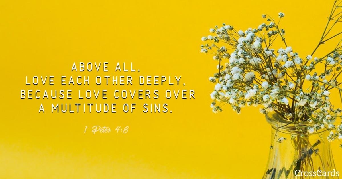 1 Peter 4:8 ecard, online card