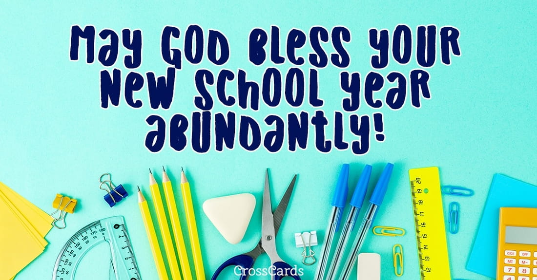Back to School Blessings ecard, online card