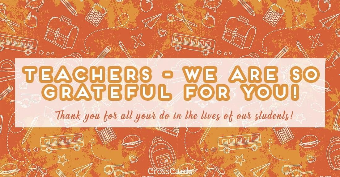 Thanks, Teachers! ecard, online card