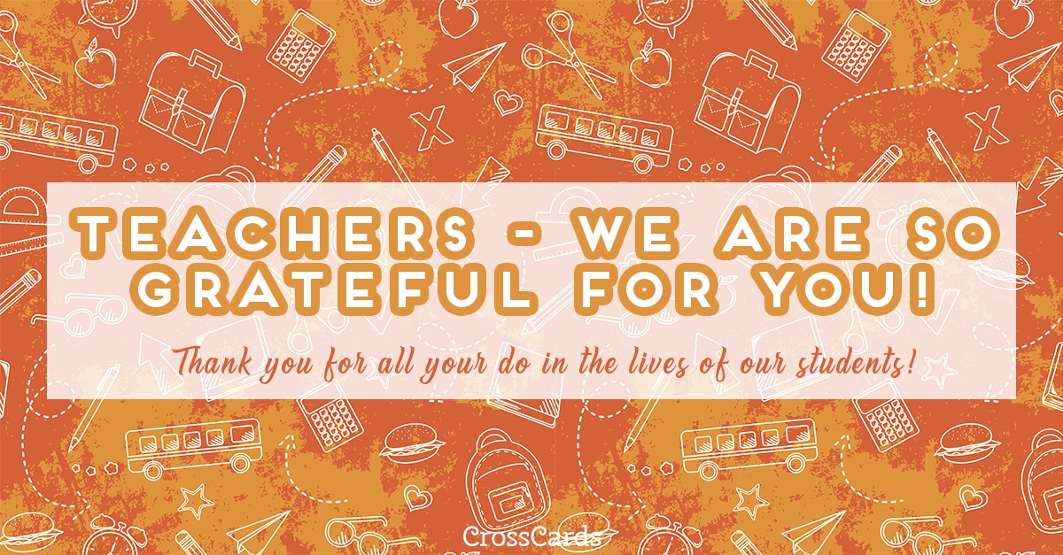 Thanks, Teachers! ecard, online card
