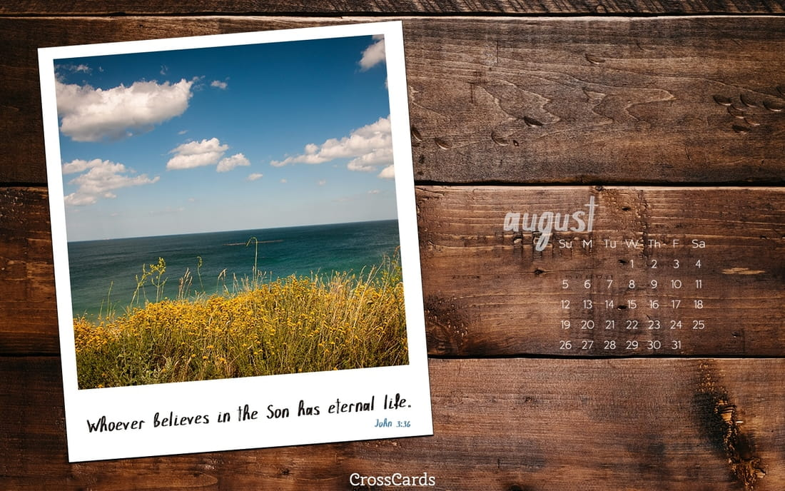 August 2018 - Eternal Life ecard, online card