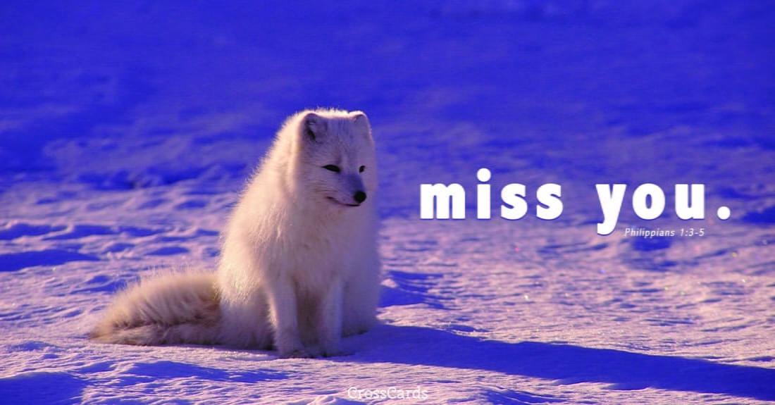 Miss You ecard, online card