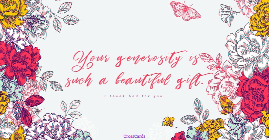 Generosity ecard, online card